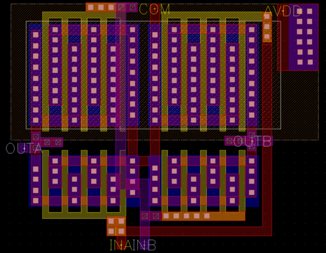 8 Bit R 2r Ladder Digital To Analog Converter With Equal Currents Dac Circuit Diagram Figure 14 Layout Of The Opamp Bias Generator